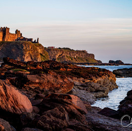 Sunrise at Tantallon Castle