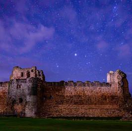 Shining over Tantallon Castle