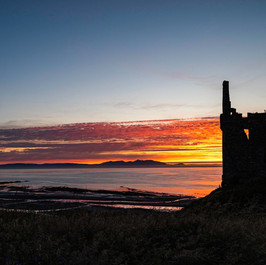 Sunset at Greenan Castle