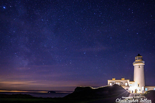 Photo Print - Turnberry Lighthouse at Night