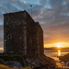Portencross Castle in the Sunlight
