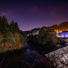 Night Hues of New Lanark