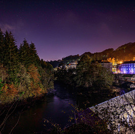 Night Hues of New Lanark
