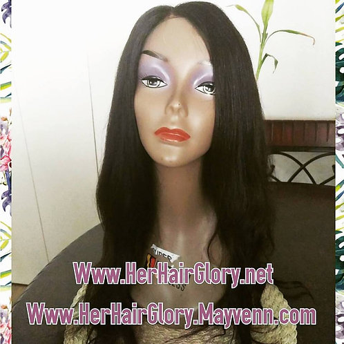 Ready-to-Ship Pre-Made Virgin Malaysian Body Wave Lace-Closure Wig