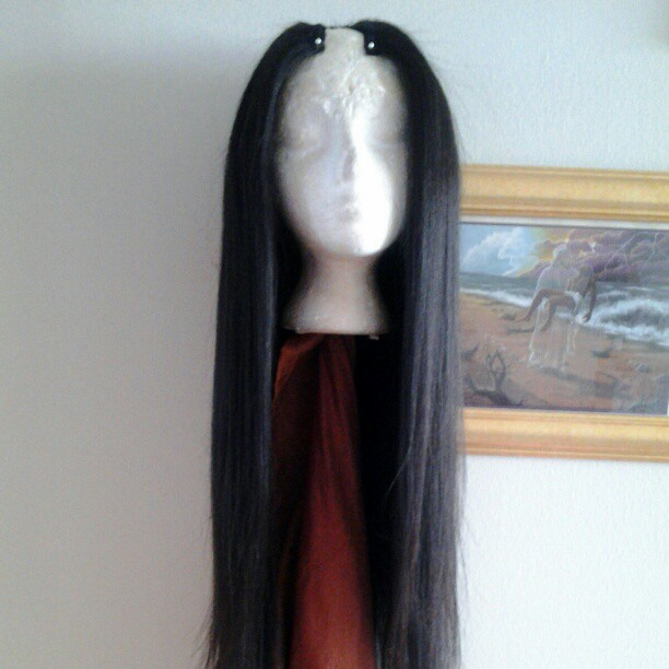 "30"" Peruvian straight U-part wig"
