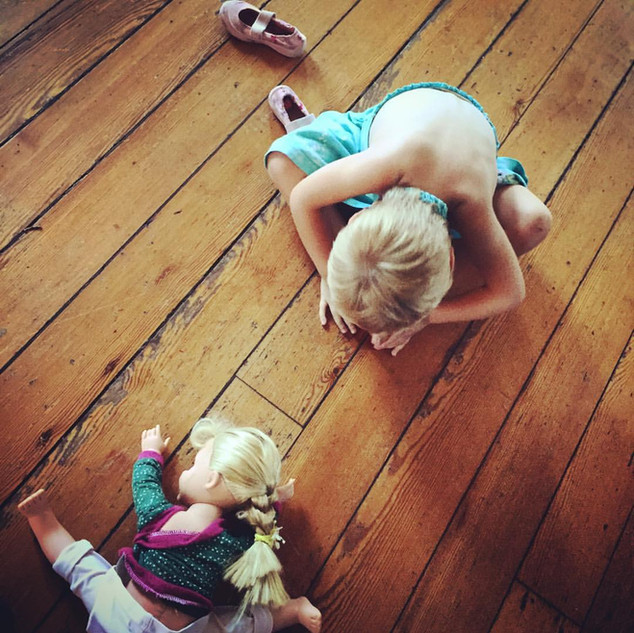 Morris Jumel Mansion, mommy & me yoga post-class 2015