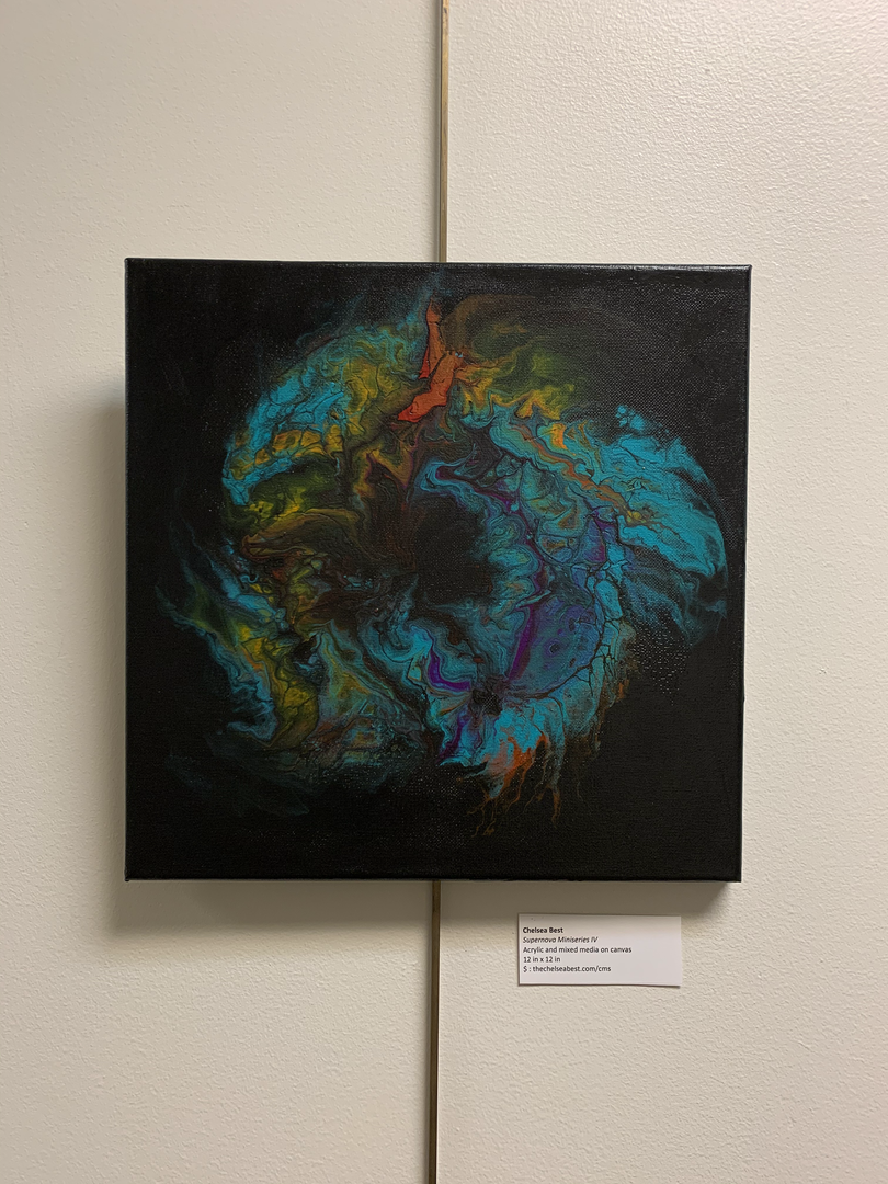 """untitled pour 10""""x10"""" [SOLD]"""
