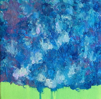"""Blue Willow 10""""x10"""""""