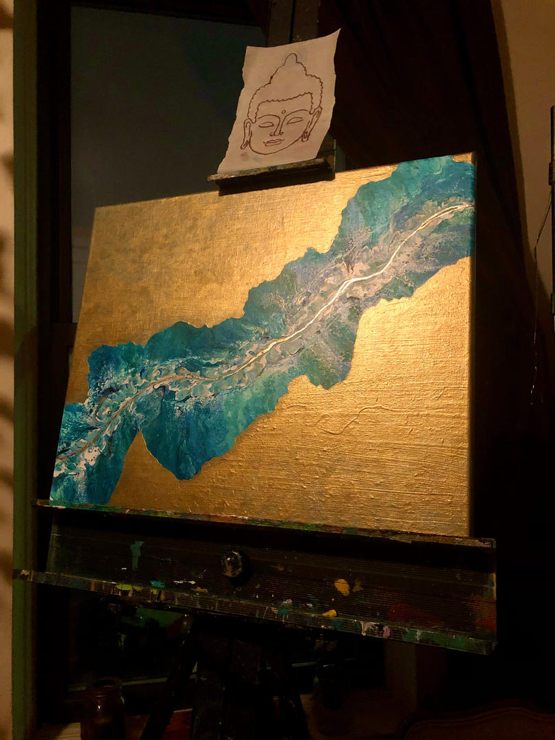 Blue Coral  (on view at a gallery in Larchmont, NY, Feb through April 10)