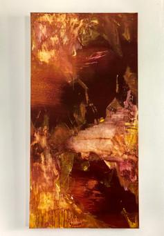 "Lis de Feu [fire lily], 18x36"" (on view at Love Bella)"