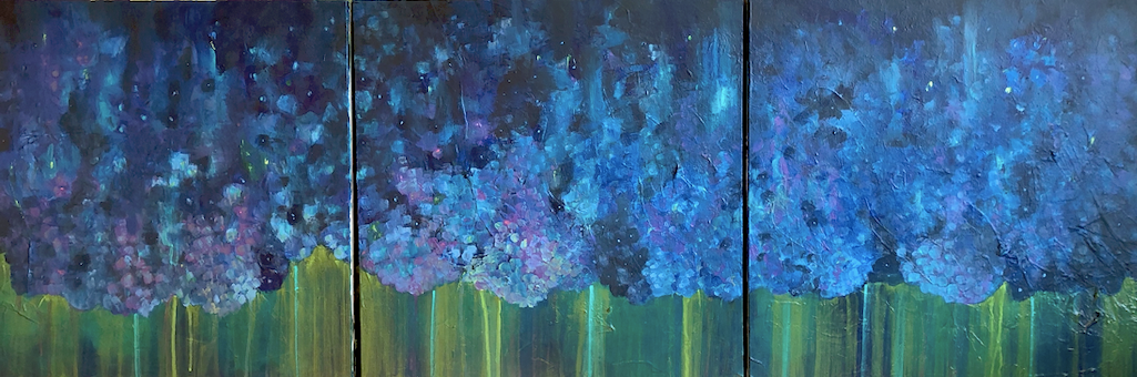 Hydrangea Triptych (SOLD)