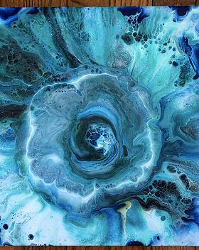 "Water Flower 10x10"""