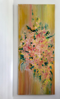 """New Spring, 22.5x54"""" (on view at Love Bella)"""