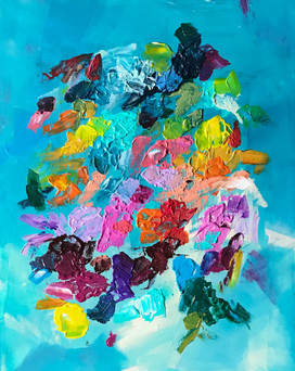 """Spring 24""""x30"""" (On view at Love Bella, Larchmont through June 4)"""