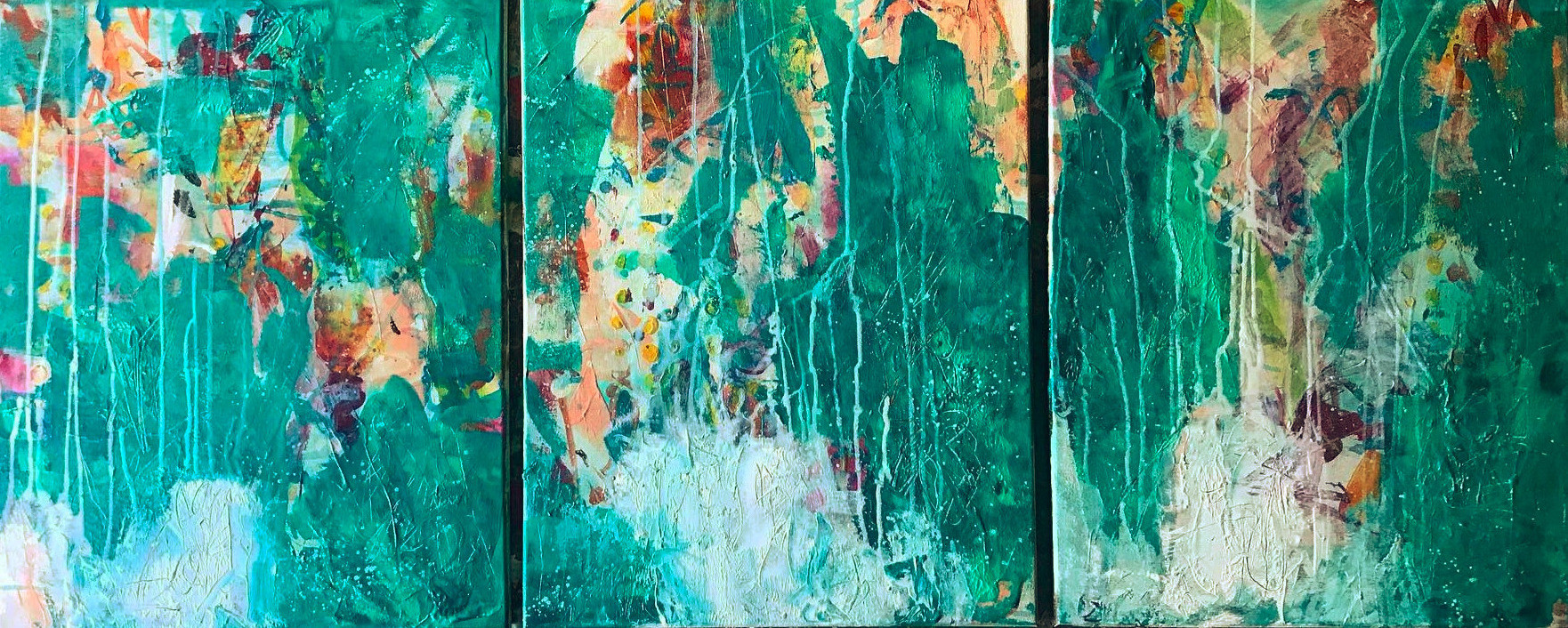 "Soon Soon Soon... triptych of three 16""x20"""