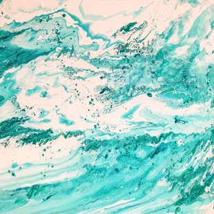 turquoise and seafoam