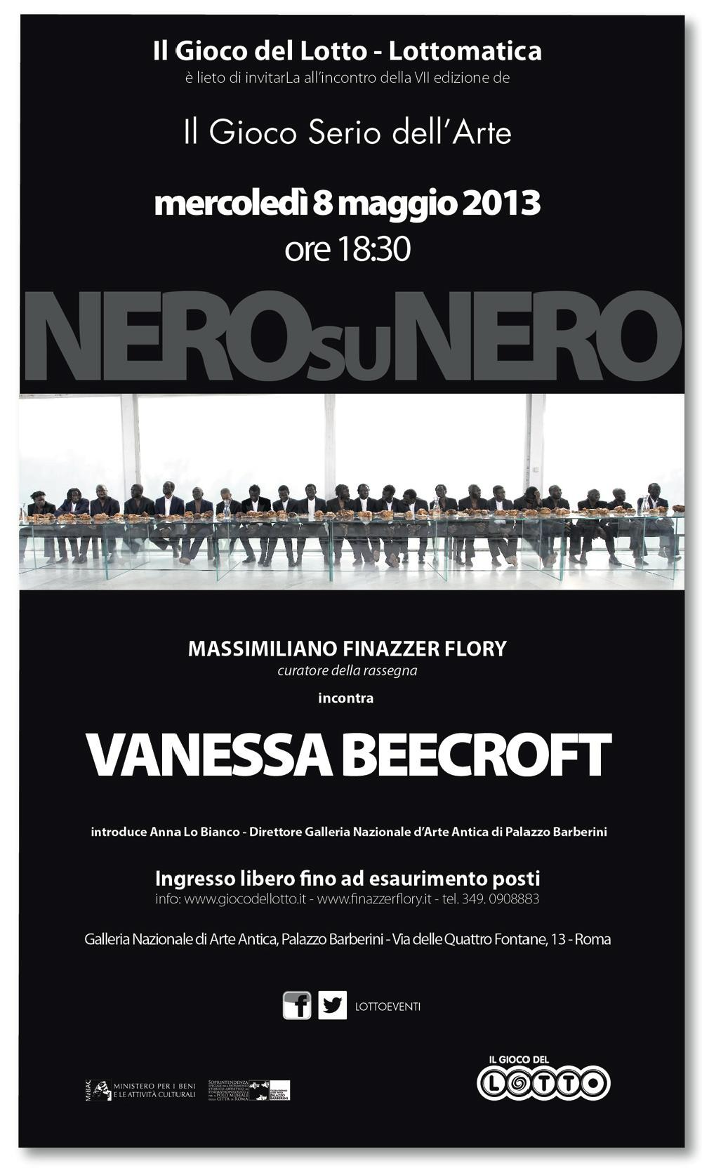 Invito evento Vanessa Beecroft