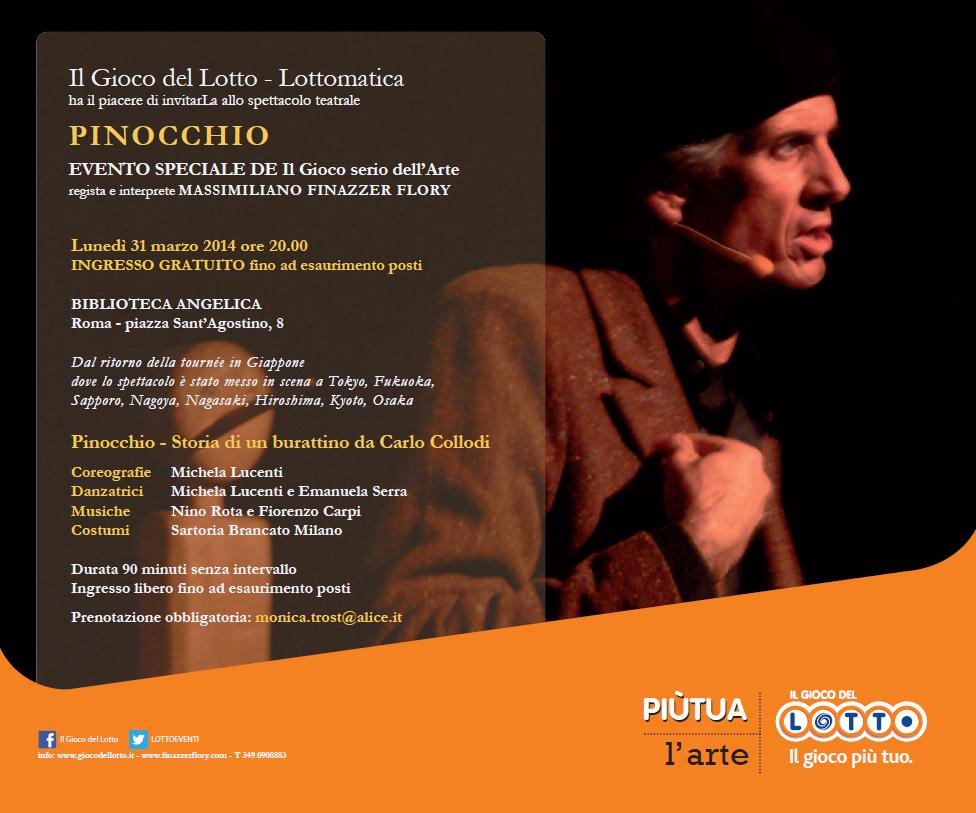 Invito spettacolo Pinocchio