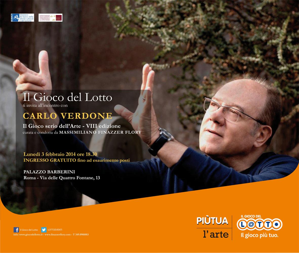 Invito evento Carlo Verdone