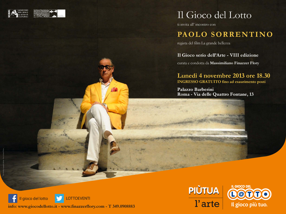 Invito evento Paolo Sorrentino