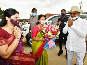 CM KCR garu visit to Vasalamarri