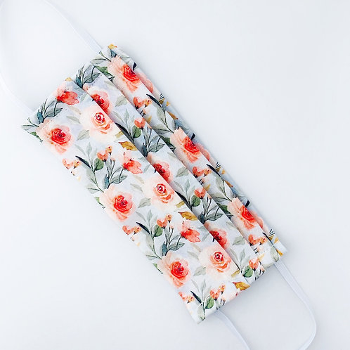 Gray and Peach Rose Floral