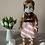 """Thumbnail: 18"""" Doll Mask and Scrunchie Set - White w/ Black Dots"""