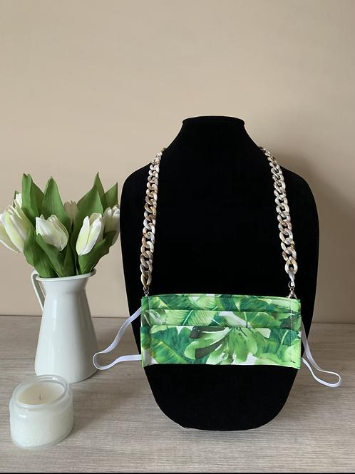 Light Brown/Ivory Tortoise Acrylic Chain
