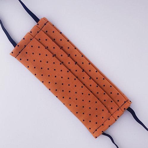 Orange with Black Polka Dots