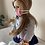 """Thumbnail: 18"""" Doll Mask and Scrunchie Set - Tie Dye"""