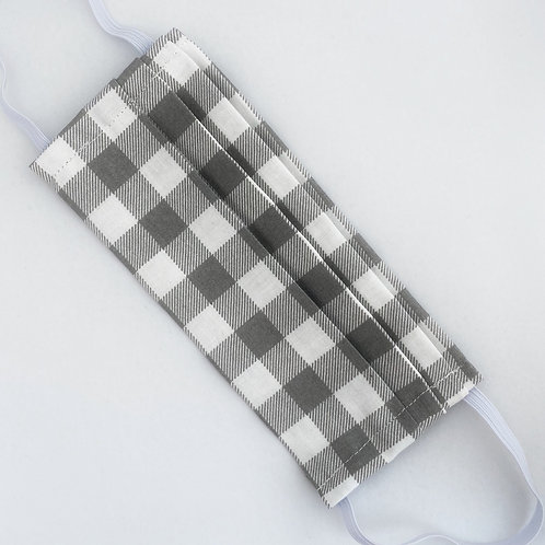 Gray & White Buffalo Plaid
