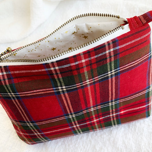 Red Plaid/Ivory and Gold Star Lining- Assorted Sizes