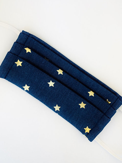 Blue Denim w/Gold Stars