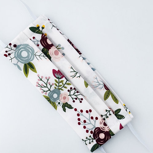 White and Burgundy Floral