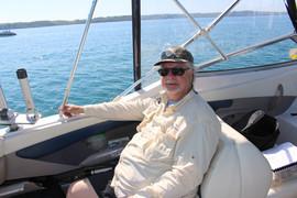 Joe Cruzen on Henry's Boat Torch Lake 2017