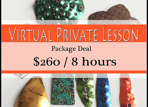 Virtual Private Lesson: 8-hour Package   √