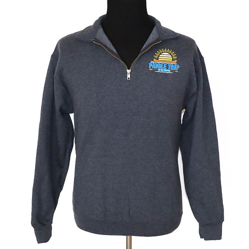 Charcoal quarter zip sweatshirt-unisex