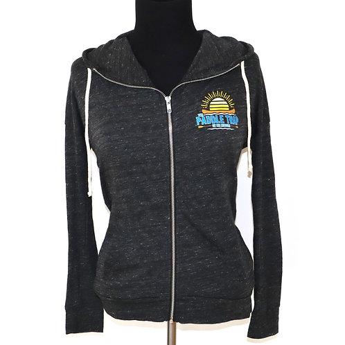 Women's Black Zip Up Hooded Sweatshirt