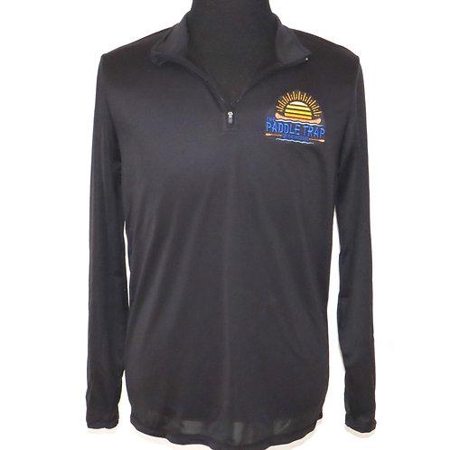 Black Quarter Zip Athletic Pullover