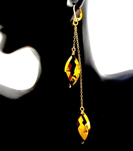 Golden Chandelier Drop Earrings