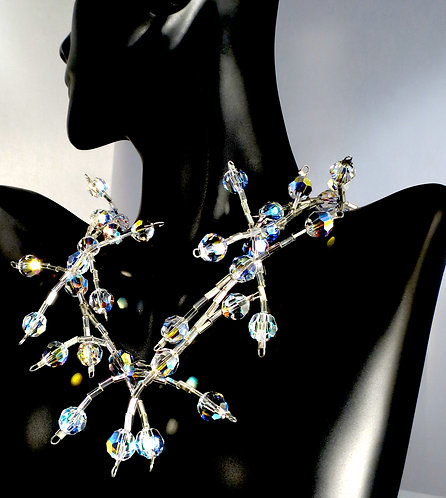 Diva Bling Aura Swarovski Crystal Necklace
