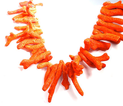 Fire Red Natural Coral Necklace