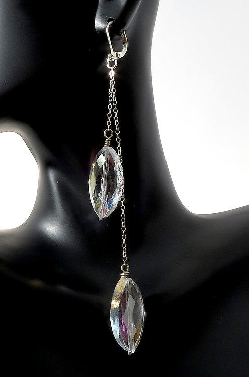 Clear Crystal Shimmer Chandelier Earrings