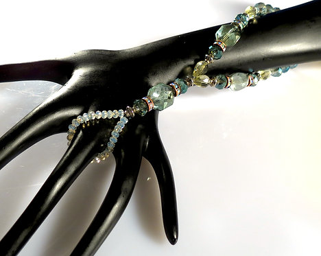 Olive Green Fire Polished Crystal Hand Adornment