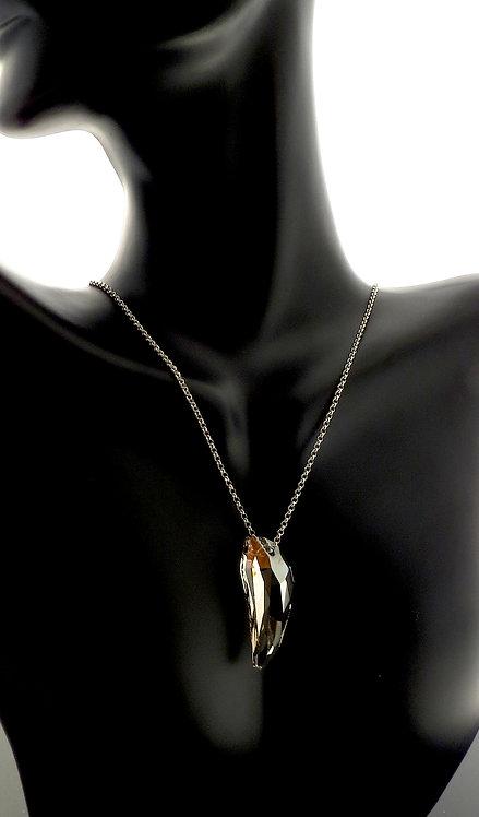 Silver Shade Swarovski Pendant accented in Rhodium