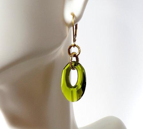 Lime Green Crystal Loop