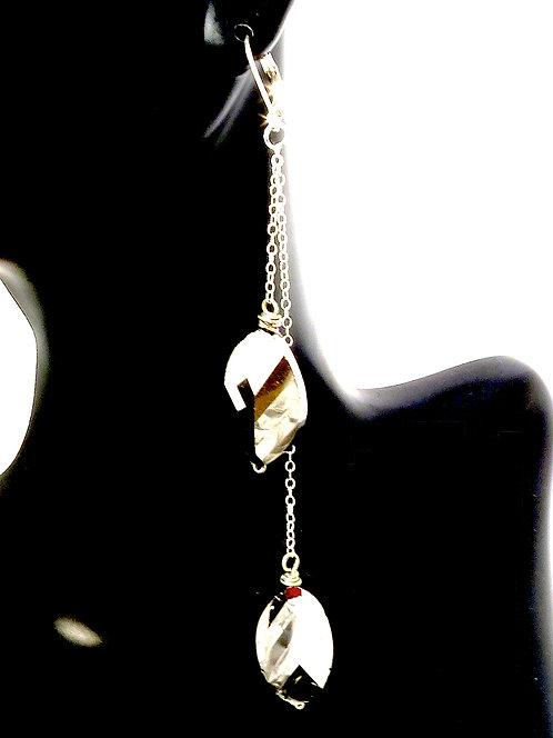 Silver Chrome Chandelier Drop Earrings