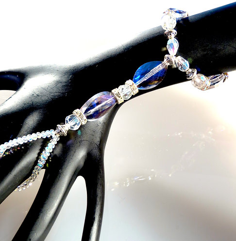 Violet Fire Polished Crystal Hand Adornment