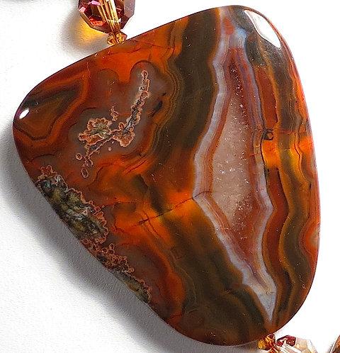 Condore Agate accented w/ Copper Swarovski