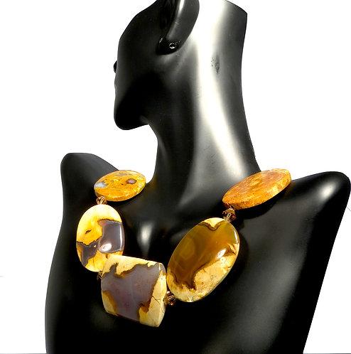 Thunder Egg Opal Stone Necklace